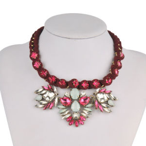 Wire Red Hand-Woven Shourouk Style Fashion Necklace (XJW13603) pictures & photos