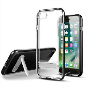 Crystal TPU PC Kickstand Case for Samsung J3 PRO Case pictures & photos