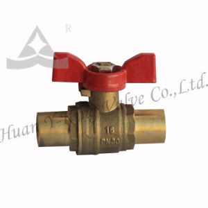 Brass Solder Ball Valve for Water (YD-1014) pictures & photos