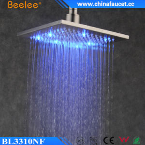 Stainless Steel Nickel Brushed Square Bath Shower Head