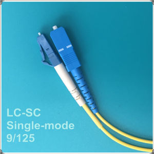LC-Sc Single-Mode Fiber Optic Patch Cord pictures & photos
