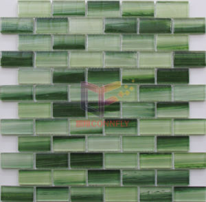 Green Color Hand Painting Crystal Mosaic Tile (CD407) pictures & photos