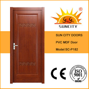 Best Selling PVC Wood Plastic Composite Door (SC-P182) pictures & photos