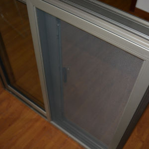 Dark Handle with Key Anodized Aluminum Alloy Aluminum Sliding Window/Aluminium Window K01002 pictures & photos