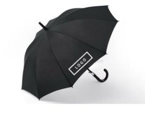 Top Quality Black Straight Auto Open Aluminum Umbrella, Walking Stick Aluminum Umbrella pictures & photos