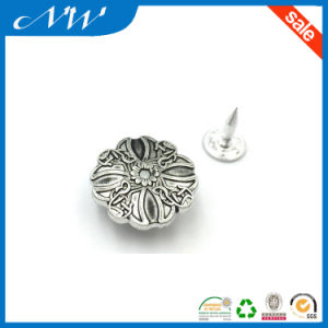 Hot Sale 20mm Alloy Jeans Button for Denim Jeans pictures & photos