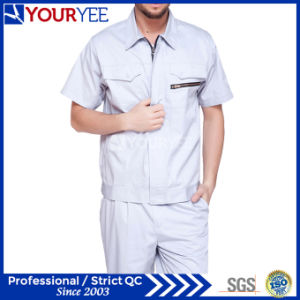 Fashionable Work Clothes Short Sleeve Workwear (YMU119) pictures & photos