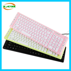 Colorful Portable Ultrathin Chocolate Wired USB Keyboard pictures & photos