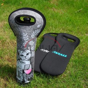 Sublimation Neoprene Wine Bottle Cooler, Insulated Wine Bottle Holder (BC0058) pictures & photos