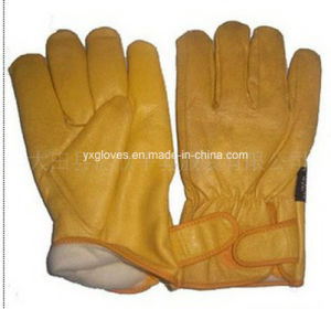 Winter Glove-Driver Glove-Winter Leather Glove-Cow Leather Work Glove-Mechanic Glove-Safety Glove pictures & photos