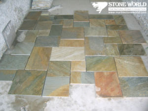 Rusty Natural Slate Tumbled Stone for Paving /Driveway pictures & photos