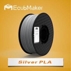 1.75mm PLA Filament for 3D Printer Silver Color pictures & photos