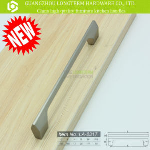 Zinc Alloy Brushed Nickel Cabinet Kitchen Handles pictures & photos
