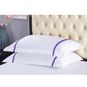 Luxury 100% Cotton Pillow Cover Hotel Satin Pillow Case (JRC312)