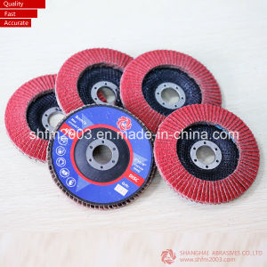 "T27 7"" 180X22mm Zirconia Alumina Polishing Flap Discs in 80 Grit pictures & photos"