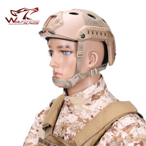 Military Camouflage Helmet Tactical Navy Pj Helmet with Visor pictures & photos