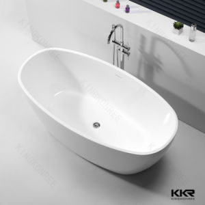 Custom Made Stone Resin Hotel Freestanding Bathtub for Sale pictures & photos