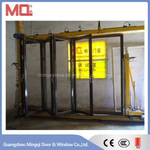 Customized Made Double Glazed Lowe Glass Aluminum Folding Door pictures & photos
