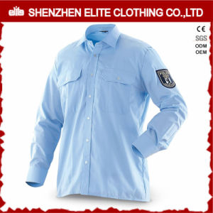 High Quality Long Sleeve Blue Men Cotton Work Shirts (ELTHVJ-296) pictures & photos