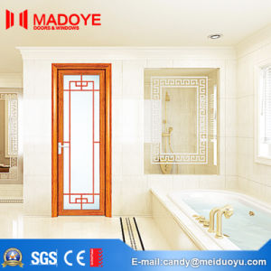 Hollow Glass Aluminium Casement Door with Pattern for Building Material pictures & photos