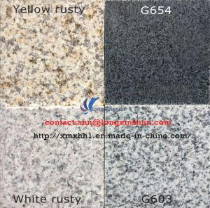 G603/654/G664/Rusty Grey Black Yellow White Natural Granite Floor Tile pictures & photos