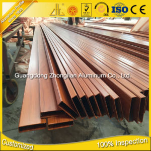 China Aluminum Extrusion Manufacturers Supply OEM Aluminium Hollow Profile with Wood Colors pictures & photos