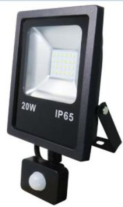Rectangular Slim 20W LED Floodlightdie-Casting Aluminium Body Tempered Glasses with with Flat PIR Sensor pictures & photos
