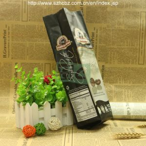 side gusset Kraft paper coffee bag with valve