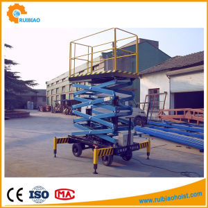 11meter Electric Hydraulic Mobile Scissor Table Lift pictures & photos
