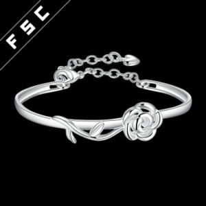 Romantic Cremation Jewelry Silver Plated Rose Bracelet for Girl pictures & photos