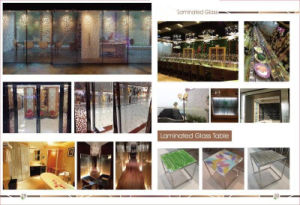 Decorative Handmade Organic Toughened Laminated Glass pictures & photos