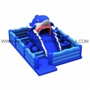 Blue Shark Inflatable Playground with Slide for Kids pictures & photos