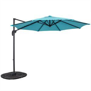 Outdoor 10FT Hanging Roma Offset Umbrella Outdoor Patio Sun Shade Cantilever Crank Canopy (Light Blue) pictures & photos
