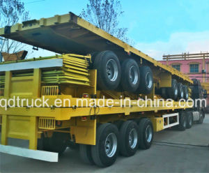 40FT 2/3/4 Axle Flatbed Platmorm Flatbed Semi Truck Trailer pictures & photos