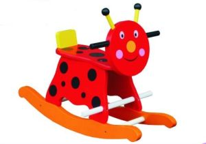 Cute Wooden Baby Chair Lady Bird Rocker for Kids and Children pictures & photos