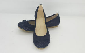 Women′s Glitter Round Toe Flat Ballet Shoes pictures & photos