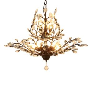 Living Room 7-Lights Antique America Style Metal Crystal Chandelier Lamp Lighting, Finished in Black / Antique Brass Painting pictures & photos