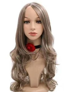 Cheap Women African American Celebrity Wigs Cosplay Wig Long Curly Synthetic Hair Wigs Heat Resistant Black Root Wig pictures & photos