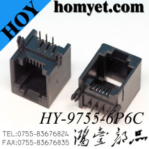 90 Degree 6p6c RJ45 Socket Female RJ45 Connector pictures & photos