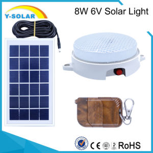 6V8w 18PCS-2835-LED Waterproof&Light Control Solar Lamp Remote Control SL1-8W pictures & photos