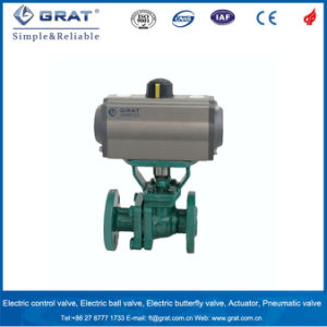 Pneumatic Drive PTFE Line Flange Ball Valve pictures & photos