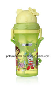 300ml Hot Selling New Style Cartoon Kid Water Bottle with Straw, Beautiful Water Bottle for Children pictures & photos