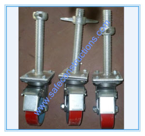 Safe Adjustable Brake Scaffolding Wheel pictures & photos