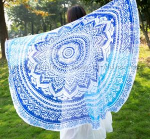 Custom Summer Chiffon Fashion Round Beach Towel Pareo for Promotion pictures & photos