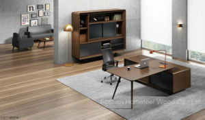 Modern Teak Wood Executive Desk Office Furniture (HF-38D16) pictures & photos