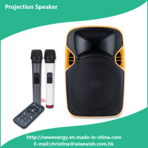 Professional Portable Audio Wireless LED Projection Speaker - Projector