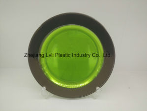 Plastic Plate, Disposable, Tableware, Tray, Dish, Colorful, PS, SGS, Silver Rim Plate, PA-03 pictures & photos