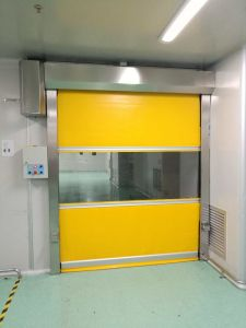 Automatic PVC Fabric High Speed Roller Shutter Door for Factory pictures & photos