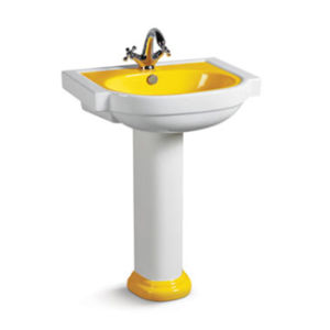 Ovc-A7114y Luxury Ceramic Bathroom Yellow Wash Basin pictures & photos