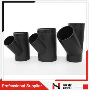 PE 100 SDR26 Plastic Pipe Fitting Dn75 Black Lateral Tee pictures & photos